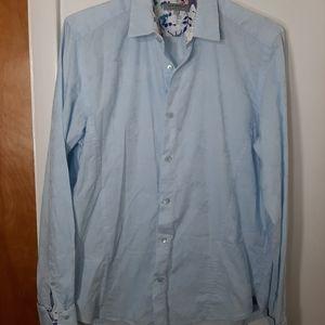 Ted Baker London Mens Blue Dress Shirt Sz L